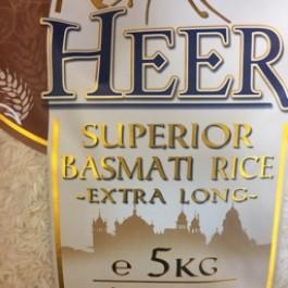 Heer superior basmati rice extra long 5kg