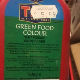 Green food colour 500g