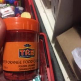 Deep orange food colour 25g