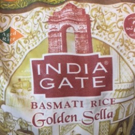 India gate golden sella basmati rice 20kg