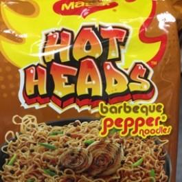Hot heads barbeque pepper noodles 71g