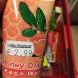 Honey orange face wash