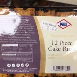 12 piece cake rusk