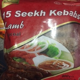 15 seekh kebabs lamb charcoal 900g