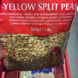 Yellow split peas 500g