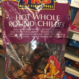 TRS HOT WHOLE ROUND CHILLIES 150g