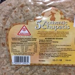 5 authentic chupatis