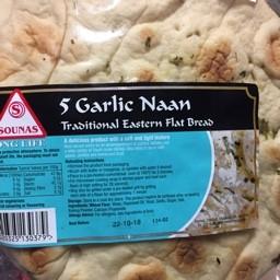 5 Garlic naan