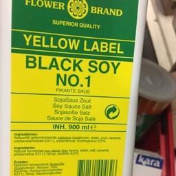 Flower brand black soy 1ltr