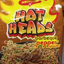 Hot heads barbeque pepper noodles 71g