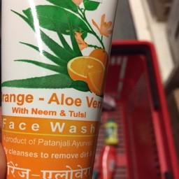Orange aloe vera with neem & tulsi